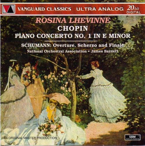 Chopin: Piano Concerto No. 1 ; Schumann: Overture, Scherzo and Finale for Piano and Orchestra de Rosina Lhevinne (1)