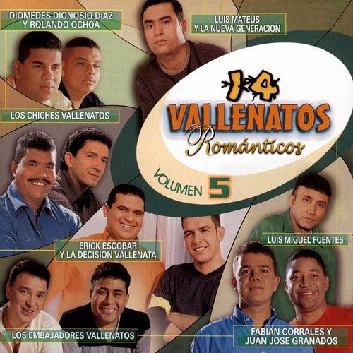 14 Vallenatos Románticos, Vol. 5 de Various Artists