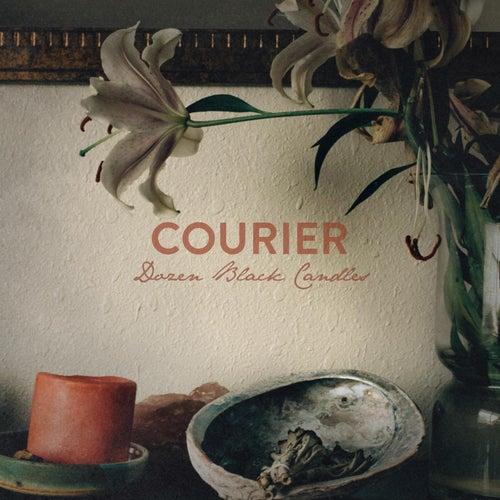 Dozen Black Candles by Courier