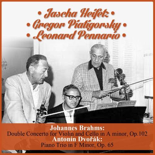 Johannes Brahms:  Double Concerto for Violin and Cello in A minor, Op.102 - Antonín Dvořák:  Piano Trio in F Minor, Op. 65 de Various Artists
