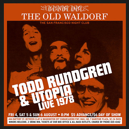 Live at the Old Waldorf San Francisco - August 1978 (Deluxe Edition) by Utopia