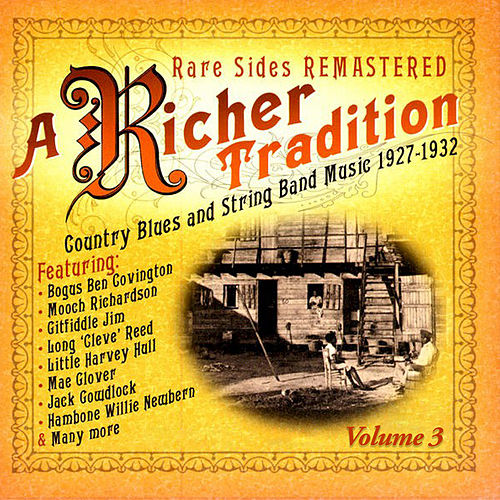 A Richer Tradition - Blues+String Band 1923-1937 Vol.3 de Various Artists