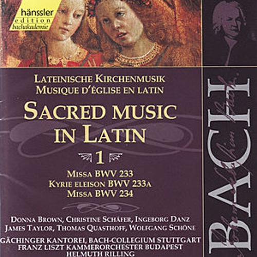 Bach: Sacred Music In Latin von Various Artists
