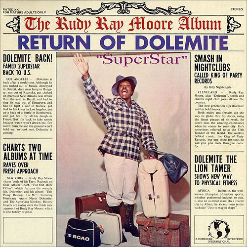 Return Of Dolemite Superstar By Rudy Ray Moore And according to the performer's online bio. of dolemite superstar by rudy ray moore