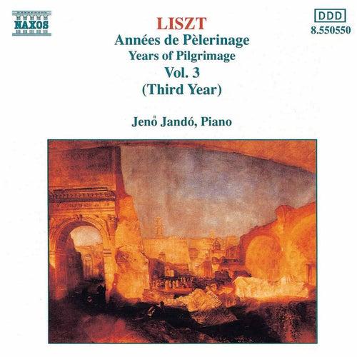 LISZT: Annees de Pelerinage, Vol. 3 di Jeno Jando