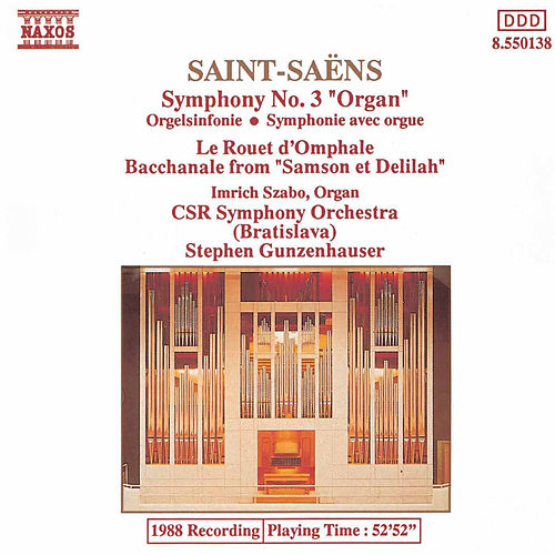 Symphony No. 3 Organ by Camille Saint-Saëns