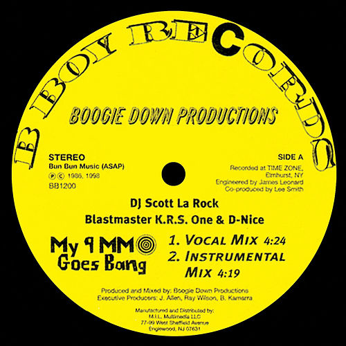 My 9mm Goes Bang / Criminal Minded de Boogie Down Productions