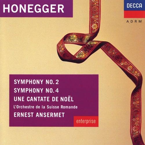 Honegger: Symphonies Nos.2 & 4; Une Cantate de Noel de Pierre Mollet