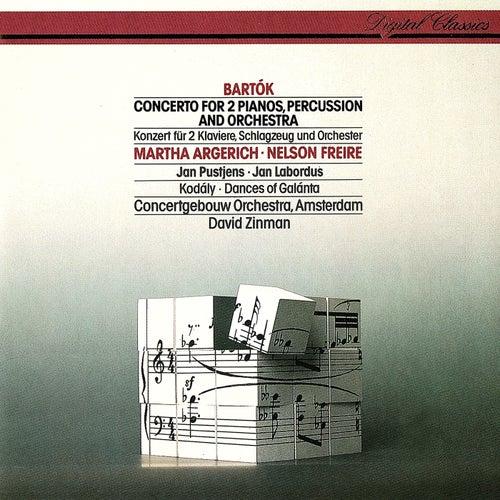 Bartók: Concerto For 2 Pianos, Percussion & Orchestra / Kodály: Dances Of Galánta von David Zinman