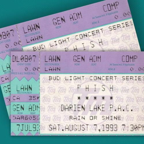PHISH: 7/7/93 Darien Lake Performing Arts Center, Darien Center, NY (Live) de Phish