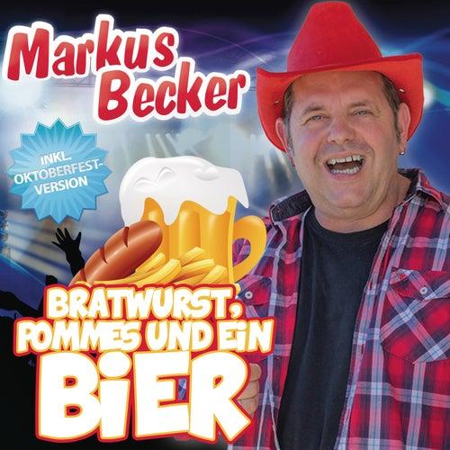 Bratwurst, Pommes und ein Bier von Markus Becker
