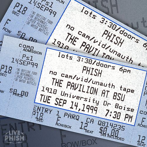 PHISH: 9/14/99 Boise State University Pavilion, Boise, ID (Live) by Phish