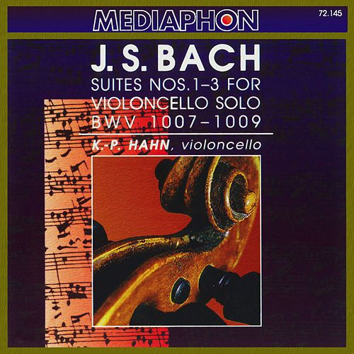 Bach: Suites  for Violoncello Nos. 1-3, BWV 1007-1009 by Klaus-Peter Hahn