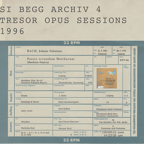 Opus Sessions 1996 by Si Begg