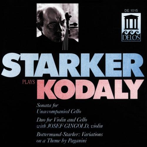 KODALY, Z.: Cello Sonata / Duo / BOTTERMUND, H.: Variations on a theme by Paganini (Starker Plays Kodaly) (Starker, Gingold) fra Janos Starker