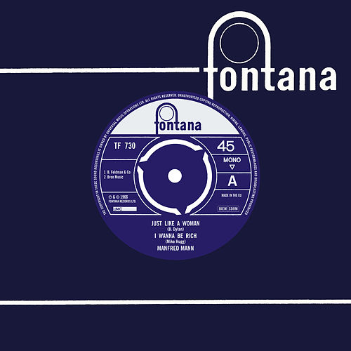 Just Like A Woman / I Wanna Be Rich by Manfred Mann