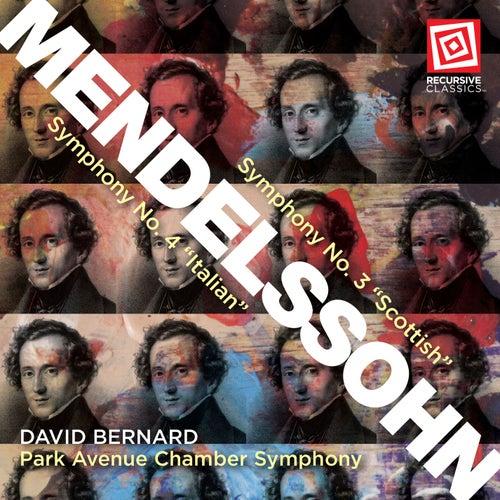 Mendelssohn: Symphonies Nos. 3 & 4 de Park Avenue Chamber Symphony