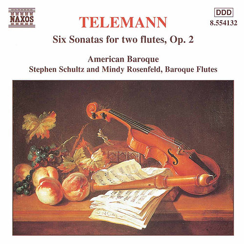 Telemann: 6 Sonatas for Two Flutes Without Bass de Georg Philipp Telemann