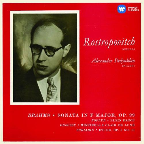 Brahms: Cello Sonata No. 2 & Works by Popper, Debussy & Scriabin de Mstislav Rostropovich