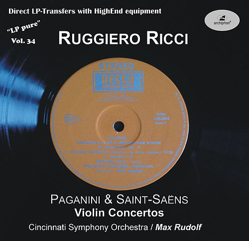 LP Pure, Vol. 34: Ricci Plays Paganini & Saint-Saëns von Ruggiero Ricci