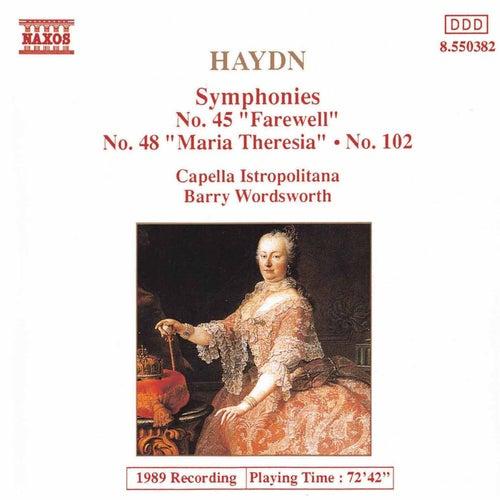 Symphonies Nos. 45, 48 and 102 de Franz Joseph Haydn