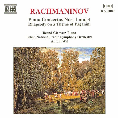 Rachmaninov: Piano Concertos Nos. 1 and 4 by Bernd Glemser