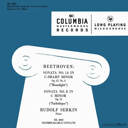 Beethoven: Piano Sonata No. 14, Op. 27 No. 2 'Moonlight' & Piano Sonata No. 8, Op. 13 'Pathétique' von Rudolf Serkin