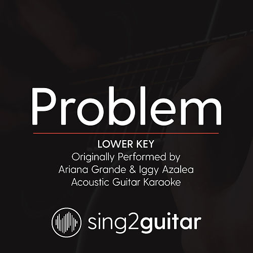 Problem (Lower Key) [Originally Performed By Ariana Grande & Iggy Azalea] [Acoustic Guitar Karaoke] de Sing2Guitar