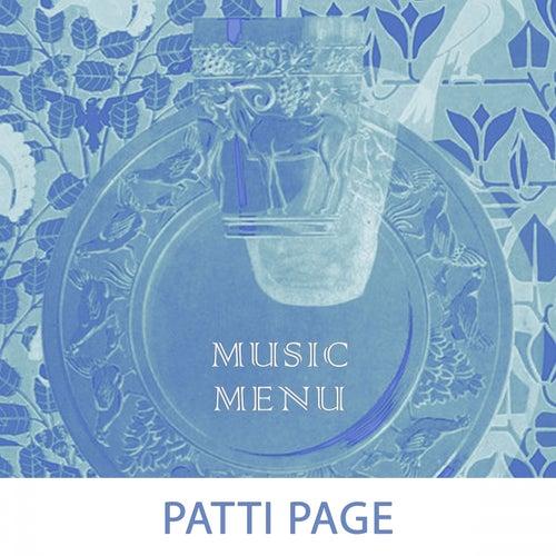 Music Menu by Patti Page
