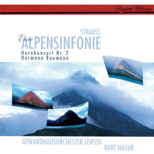 Richard Strauss: Eine Alpensinfonie; Horn Concerto No. 2 de Kurt Masur