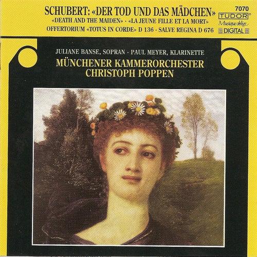 SCHUBERT, F.: String Quartet No. 14 (arr. for string orchestra) / Salve regina, Op. 153 / Offertory (Banse, Munich Chamber Orchestra, Poppen) de Various Artists