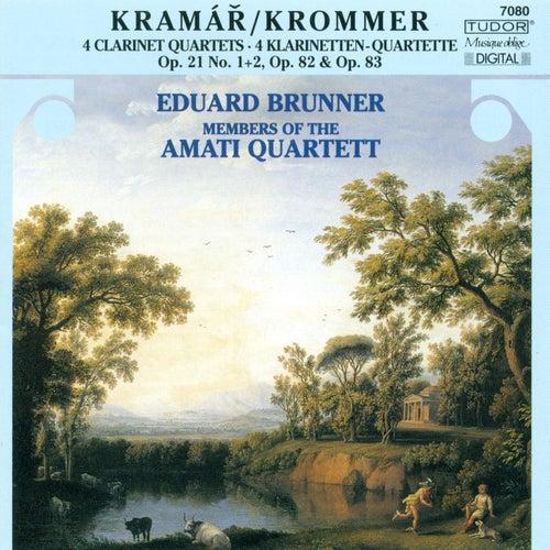 KROMMER, F.: Clarinet Quartets, Opp. 21, 82, 83 (Brunner, Amati Quartet) by Eduard Brunner