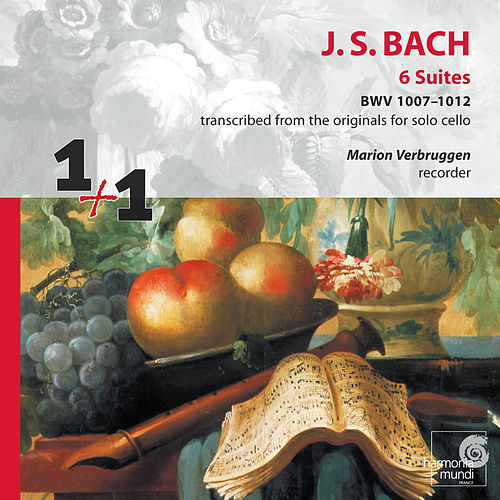 J.S. Bach: 6 Suites BWV 1007-1012 transcribed for recorder de Marion Verbruggen