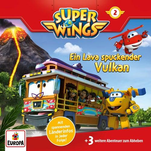 002/Ein Lava spuckender Vulkan von Super Wings