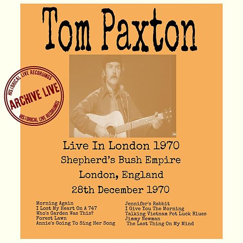 Live in London 1970 by Tom Paxton