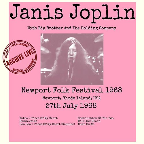 Live At The Newport Folk Festival 1968 de Janis Joplin