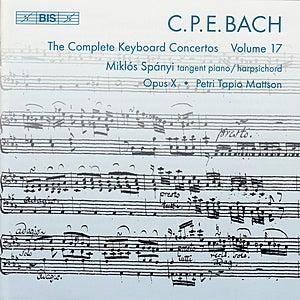 BACH, C.P.E.: Keyboard Concertos (Complete), Vol. 17 (Spanyi, Opus X) - Wq. 31, 41, 42 von Various Artists