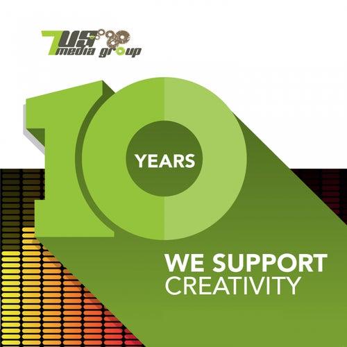 10 Years 7us (We Support Creativity) de Various Artists