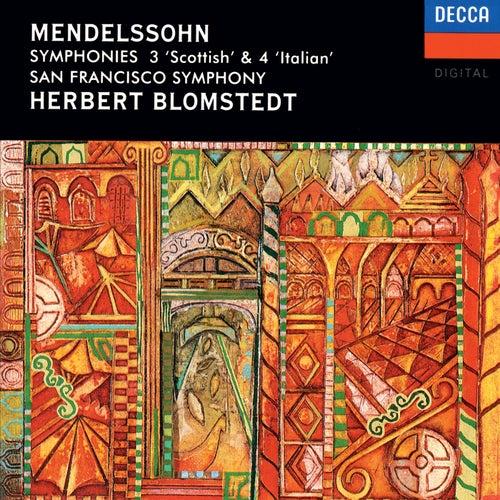 Mendelssohn: Symphonies Nos. 3 & 4 de Herbert Blomstedt