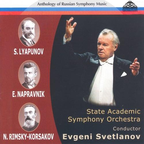 Anthology of Russian Symphony Music: Sergei Lyapunov, Eduard Napravnik and Nikolai Rimsky-Korsakov de Evgeny Svetlanov The State Academic Symphony Orchestra