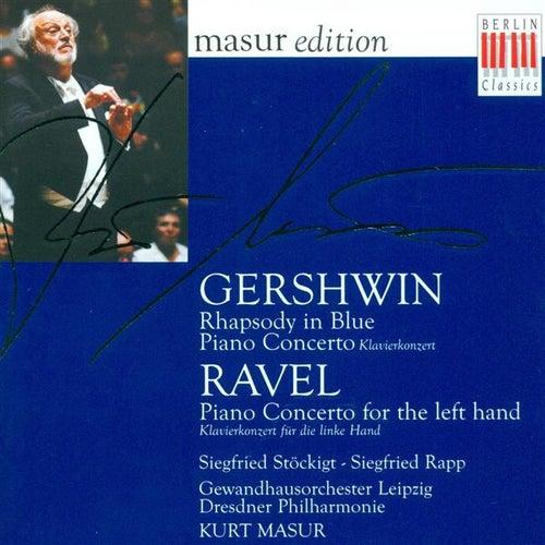 GERSHWIN, G.: Rhapsody in Blue / Piano Concerto in F major / RAVEL, M.: Piano Concerto for the Left Hand (Rapp) de Kurt Masur