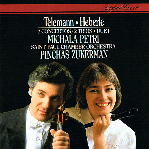 Telemann: Concerto In A minor; Duet In C; Trio Sonatas / Heberle: Recorder Concerto In G by Michala Petri