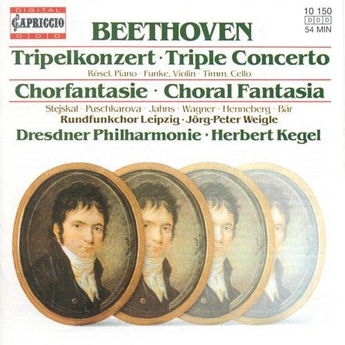 BEETHOVEN, L. van: Triple Concerto / Choral Fantasy (Rosel, Funke, Timm, Leipzig Radio Chorus, Dresden Philharmonic, Kegel) de Various Artists