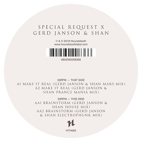 Special Request X Gerd Janson & Shan by Special Request