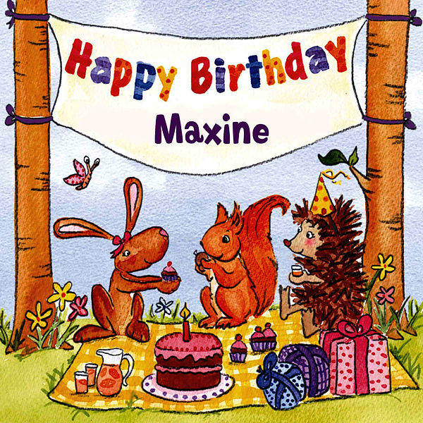 Happy Birthday Maxine By The Birthday Bunch
