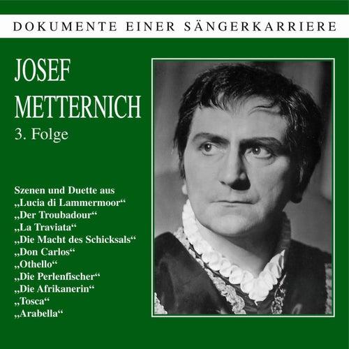 Dokumente einer Sängerkarriere  Josef Metternich III de Josef Metternich