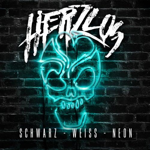 Schwarz-Weiss-Neon von Herzlos