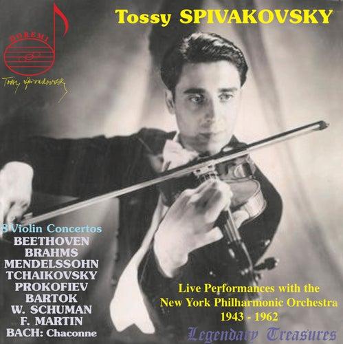 Tossy Spivakovsky Live: 8 Violin Concertos by Tossy Spivakovsky