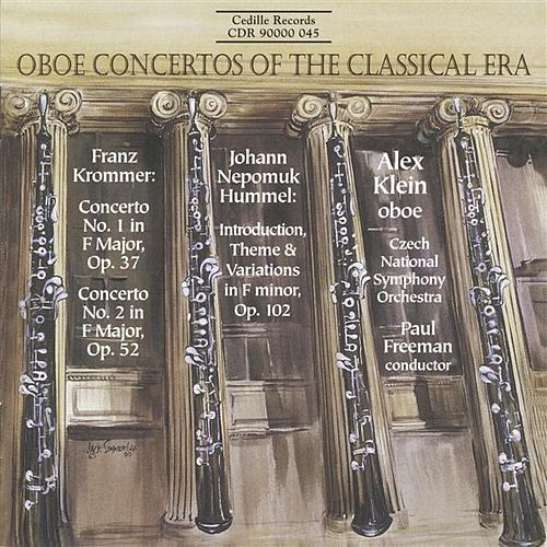Krommer: Oboe Concertos Nos. 1 and 2 / Hummel: Introduction, Theme and Variations de Alex Klein