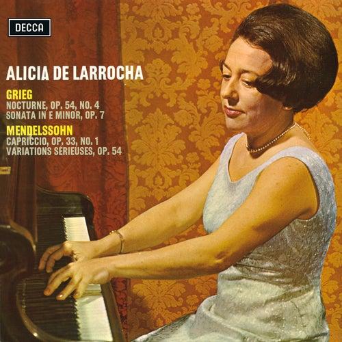 Grieg & Mendelssohn Recital von Alicia De Larrocha